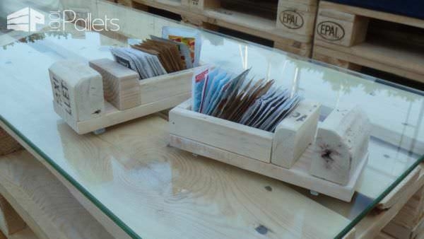 Pallet Wood Sugar Packet Holders Porta Bustine Zucchero