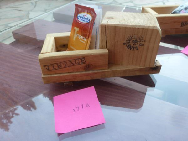 Pallet Wood Sugar Packet Holders3