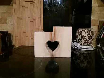 Petite Love Heart Pallet Candle Holders