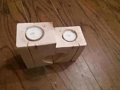 Love Heart Pallet Candle Holders2