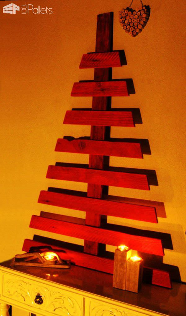 Pretty Pallet Christmas Tree Collection DIY Pallet Home Décor Ideas