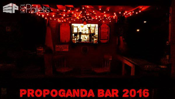 Propoganda 2016 Pallet Bar Extension Pallet Bars Pallet Sheds, Cabins, Huts & Playhouses