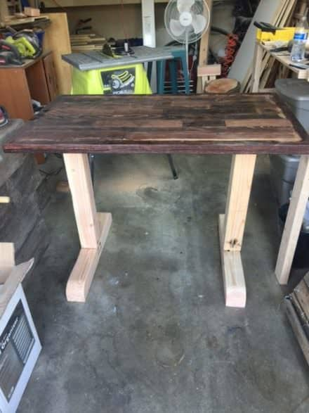 Prototype Adjustable Pallet Sit/Stand Desk