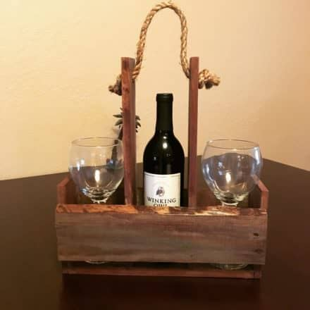 Quick Pallet Wine Holder for Outdoor Picnics Or…