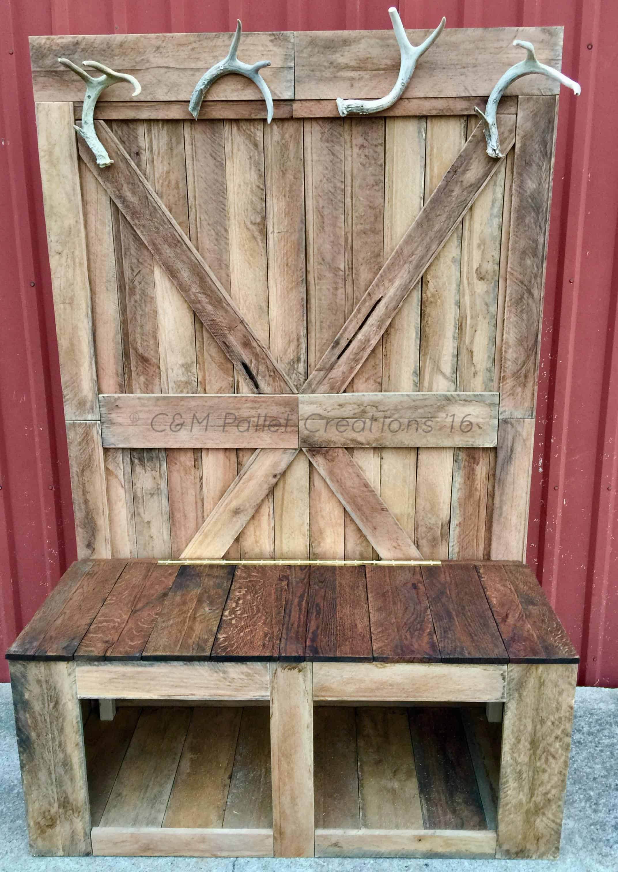 Rustic 6 Foot Tall Pallet Hall Tree Bench 1001 Pallets
