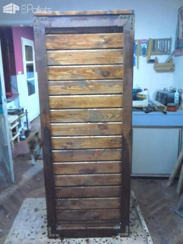 Tall Dark Amp Handsome Pallet Cabinet 1001 Pallets