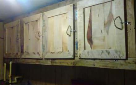 Artisan Built-in Pallet Laundry Room Cabinets