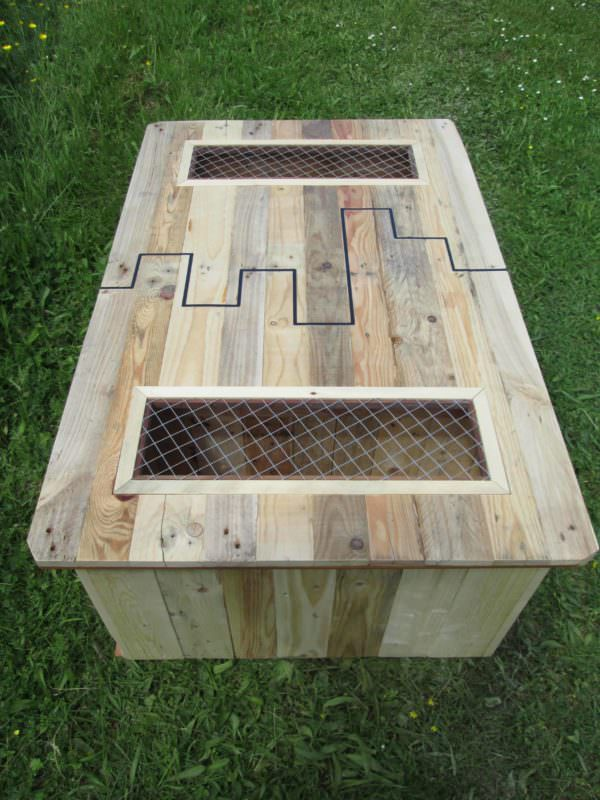 black inlay pallet coffee table table basse et ses coffres de rangement pallet ideas 1001