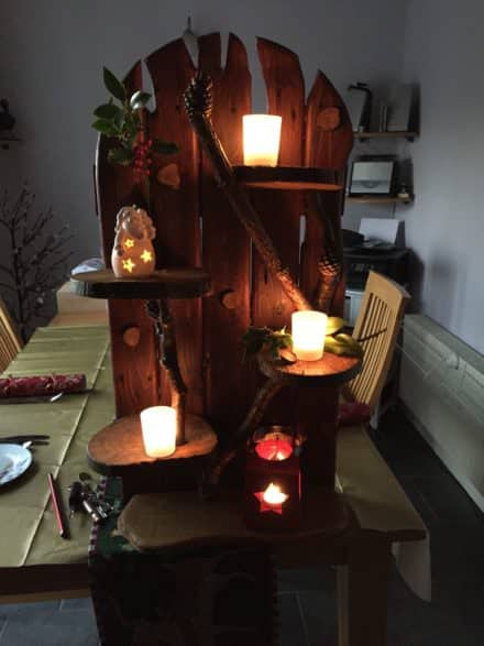 Branch Out With These Pallet Tealight Holders
