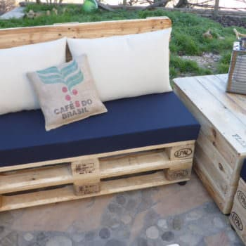 Coffee Bean Pillow Pallet Lounge Set / Divano Modulare Con Cuscini