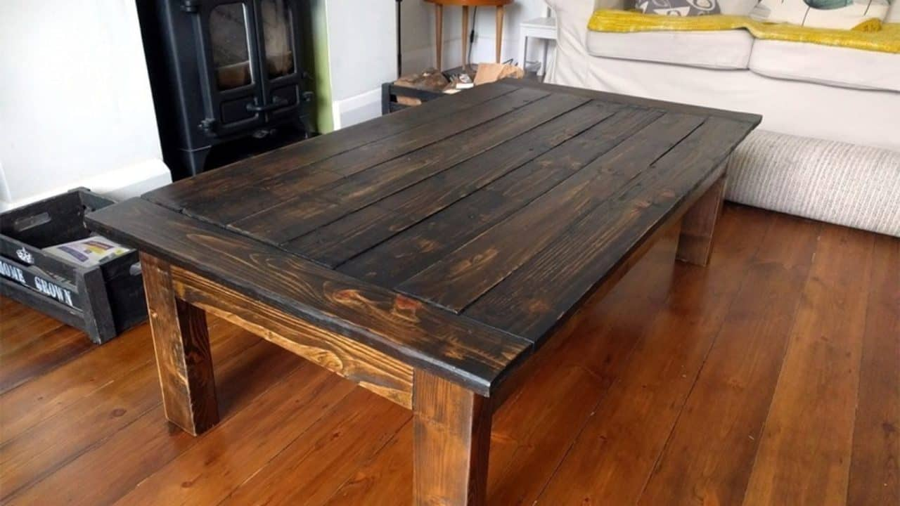 Furniture Sy Protected Rustic Crate Coffee Table In