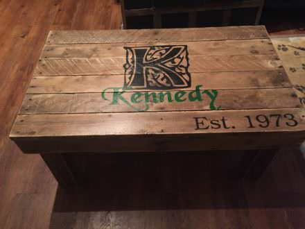 Family Insignia Pallet Coffee Table Est. 1973