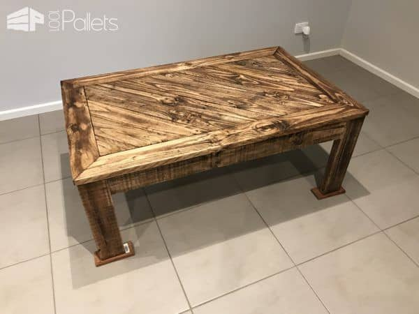 Hand Made Angled Design Pallet Coffee Table Pallet Coffee Tables