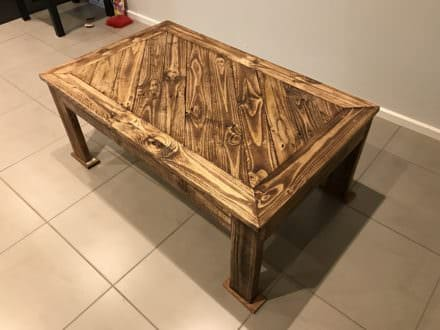 Hand Made Angled Design Pallet Coffee Table