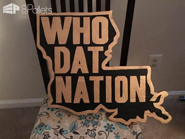Who Dat Nation Pallet Wall Art1