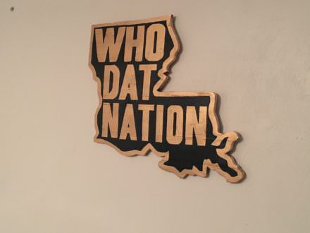 Louisiana Who Dat Nation Pallet Wall Art Shows State Pride