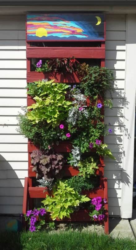 Make A Vertical Pallet Planter Under 30 Dollars