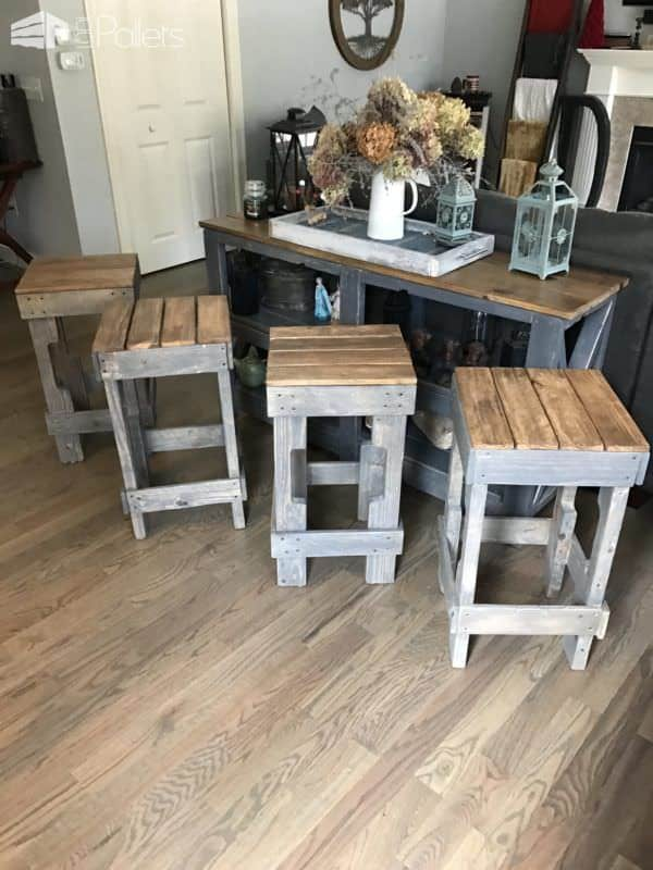 Pallet Stringer Bar Stools Look Pretty Cool 1001 Pallets