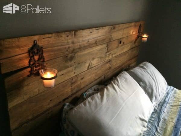 Pretty Plywood-backed Queen-sized Pallet Headboard Pallet Beds, Pallet Headboards & Frames