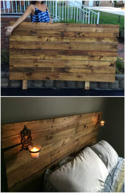Pretty Plywood-backed Queen-sized Pallet Headboard
