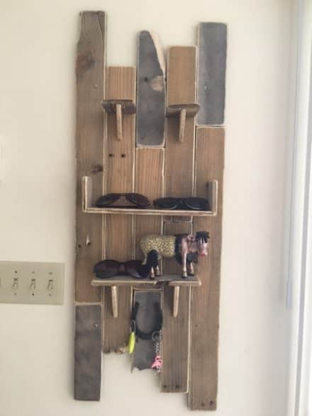 Quirky, Eclectic Pallet Wall Decor/Key Holder