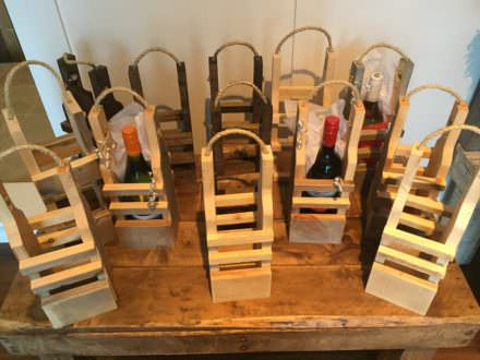 Rustic Pallet Wood Reusable Wine Gift Bags