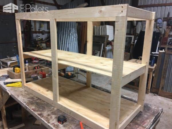 Sliding Barn Door Style Pallet TV Stand4