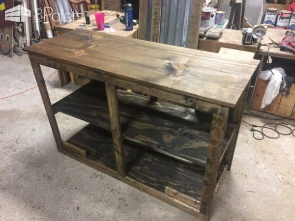 Sliding Barn Door Style Pallet TV Stand Saves Money!