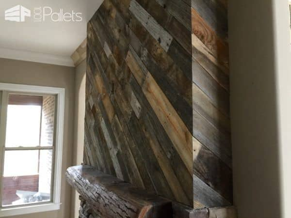 Stellar Pallet Fireplace Surround That Will Astound! Pallet Walls & Pallet Doors