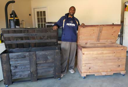 Two Pallet Storage Chests From Ten Pallets!