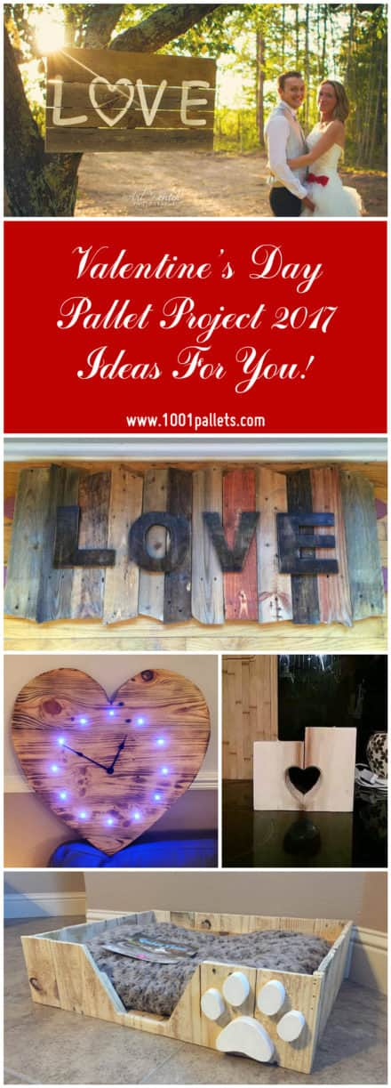 Valentine's Day Pallet Project 2017 Ideas For You!