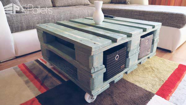 Vintage Style Pallet Coffee Table With DIY Video Pallet Coffee TablesPallet Tutorials