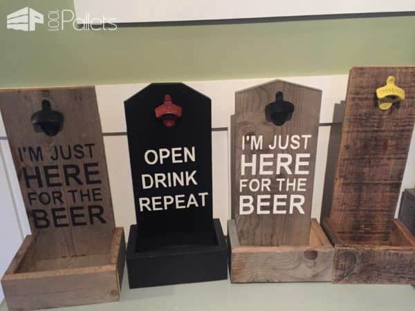 Wall Mounted Pallet Bottle-top Catchers Pallet Home Accessories