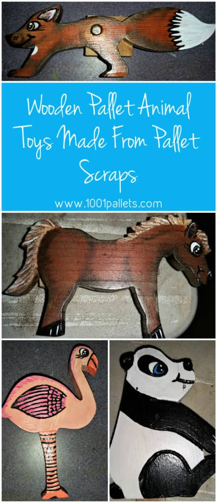 Wooden Pallet Animal Toys Made From Pallet Scraps