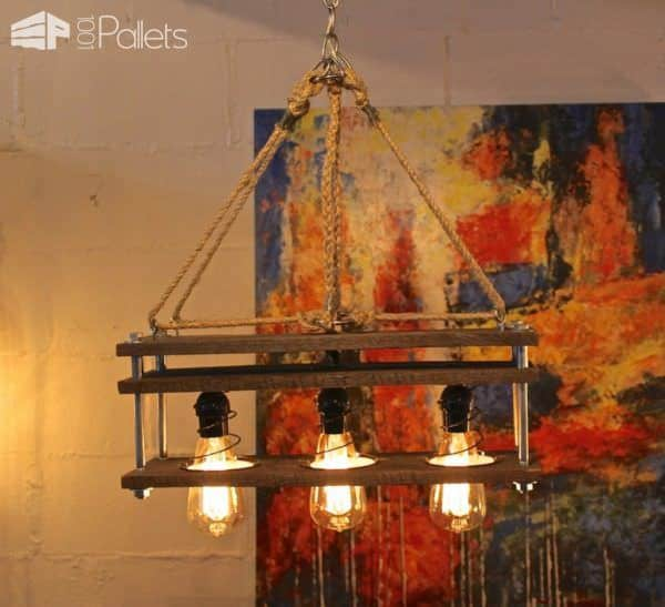 10 Pallet Lighting Ideas You Will Love Pallet Lamps, Pallet Lights & Pallet Lighting