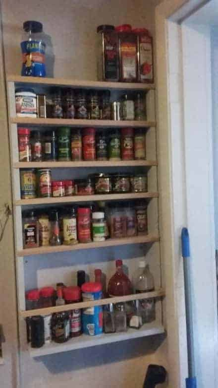 Add Spice With This Hanging Pallet Spice Rack