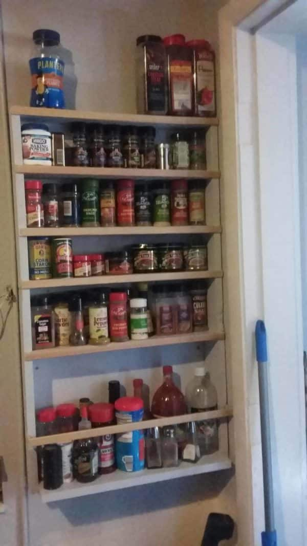 Add Spice With This Hanging Pallet Spice Rack Pallet Shelves & Pallet Coat Hangers