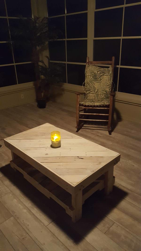 Pallet Coffee Table With Matching End Tables1