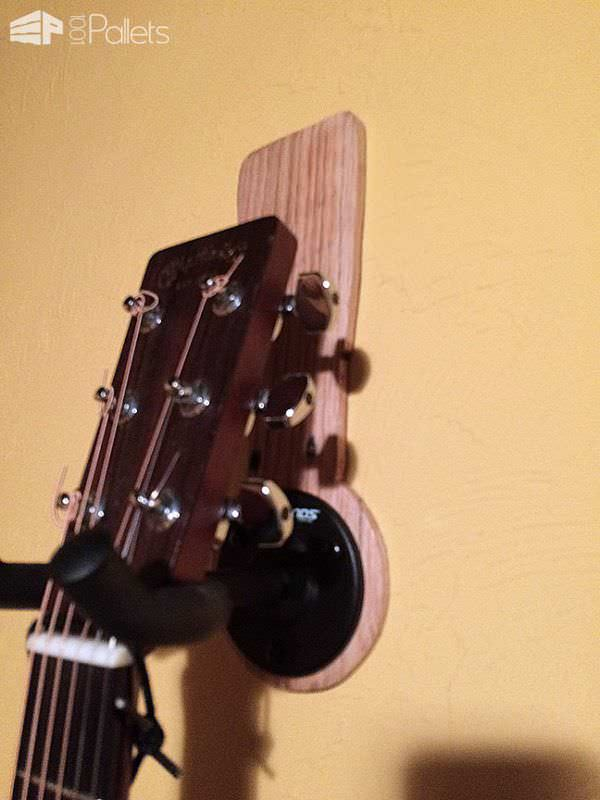 Guitar Headstock-shaped Pallet Wall Hangers Pallet Home Accessories