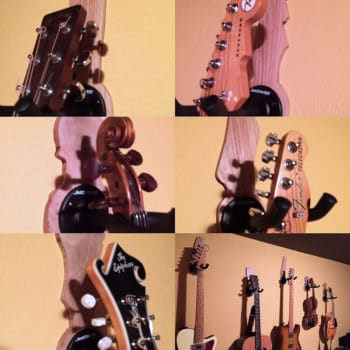 Guitar Headstock-shaped Pallet Wall Hangers