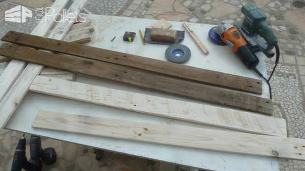 How to build an easy pallet stool come costruire uno sgabello