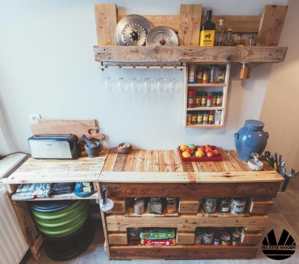Kitchen Prep/Cooking Island From Pallets / Buffet De Cuisine