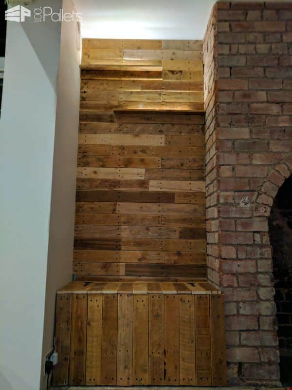 Make Feature Walls Using Pallets-rock Your Room! Pallet Walls & Pallet Doors
