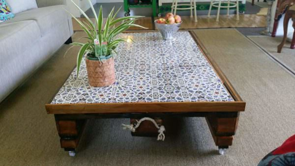 Moroccan-inspired Pallet Coffee Table Pallet Coffee Tables
