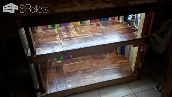 Bright Colorful Pallet Kitchen Cabinet10