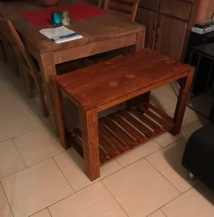 My First Pallet Coffee Table