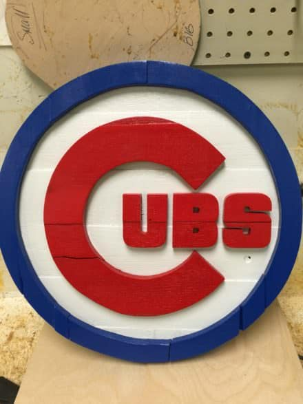 Pallet Baseball Logo Wall Art For Super-fans!