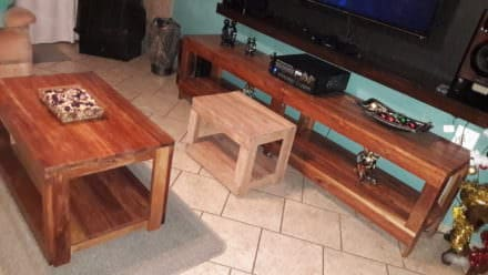 Pallet Living Room Table Trio