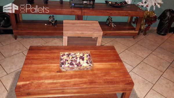 Pallet Living Room Table Trio1