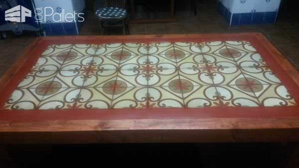 Pallet Wood Outdoor Table2